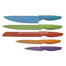 Color PP handle knife with coated blade